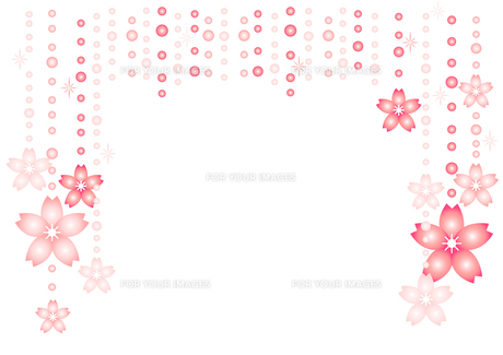 桜とラインストーンの素材 [FYI00456019]