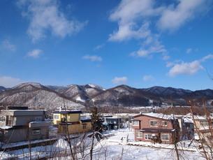 冬の山と空の写真素材 [FYI00456028]