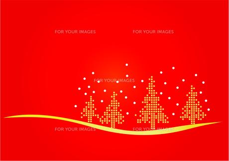4本のクリスマスツリーのイラストの素材 [FYI00456033]