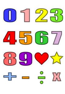 数字と記号の素材の写真素材 [FYI00456052]