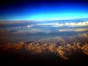 上から空、雲海の写真素材 [FYI00456107]