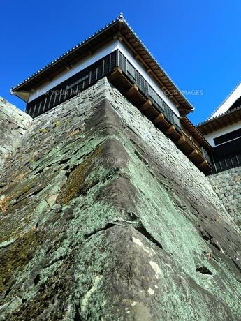 熊本城本丸御殿の石垣の写真素材 [FYI00456153]