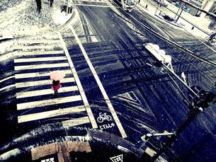 雪の日の写真素材 [FYI00456492]