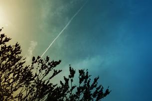 ひこうき雲の写真素材 [FYI00456514]