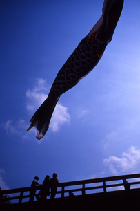 青空とこいのぼりの写真素材 [FYI00456690]