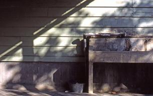 木造校舎の水飲み場の写真素材 [FYI00456705]