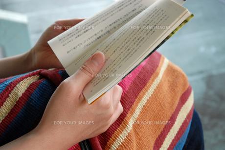 本を読む女性の写真素材 [FYI00456736]