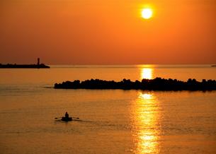 朝陽に向っての写真素材 [FYI00456880]