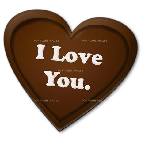 ハート型のチョコレートの写真素材 [FYI00457215]