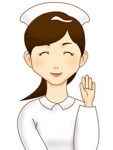 手を振る看護師さんの写真素材 [FYI00457219]