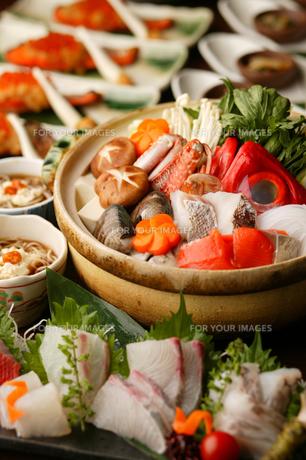 海鮮寄せ鍋 宴会の写真素材 [FYI00457255]