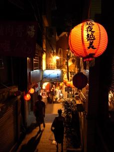 台湾〜九分の景色の写真素材 [FYI00457375]
