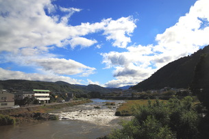 狩野川の風景の写真素材 [FYI00457411]