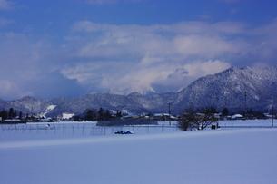 みちのくの雪景色の写真素材 [FYI00457427]
