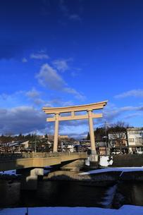桜山八幡宮鳥居 岐阜高山の写真素材 [FYI00457594]