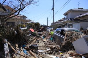 東日本大震災と津波の写真素材 [FYI00457648]