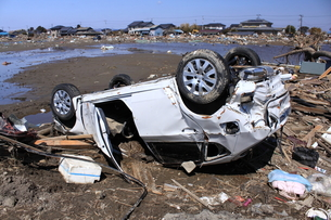 東日本大震災と津波の写真素材 [FYI00457651]