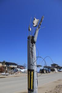 東日本大震災と津波の写真素材 [FYI00457652]