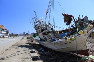 東日本大震災と津波の写真素材 [FYI00457653]