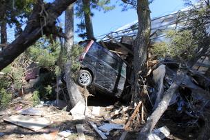 東日本大震災と津波の写真素材 [FYI00457658]
