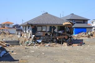 東日本大震災と津波の写真素材 [FYI00457659]