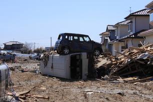 東日本大震災と津波の写真素材 [FYI00457660]