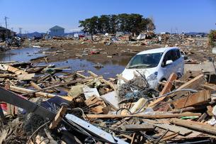 東日本大震災と津波の写真素材 [FYI00457661]