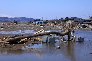 東日本大震災と津波の写真素材 [FYI00457662]