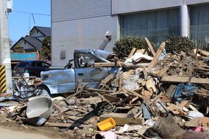 東日本大震災と津波の写真素材 [FYI00457664]