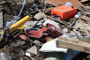 東日本大震災と津波の写真素材 [FYI00457665]