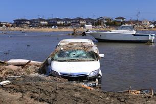 東日本大震災と津波の写真素材 [FYI00457667]