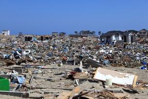 東日本大震災と津波の写真素材 [FYI00457670]