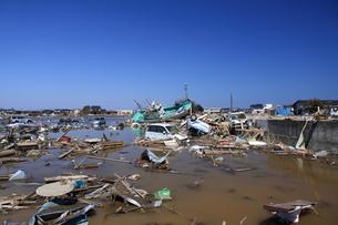 東日本大震災と津波の写真素材 [FYI00457671]