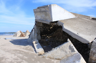 東日本大震災と津波の写真素材 [FYI00457672]
