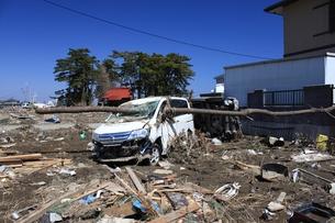 東日本大震災と津波の写真素材 [FYI00457673]