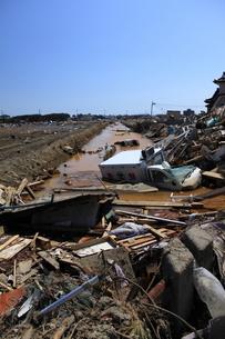 東日本大震災と津波の写真素材 [FYI00457674]