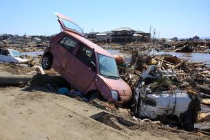 東日本大震災と津波の写真素材 [FYI00457675]