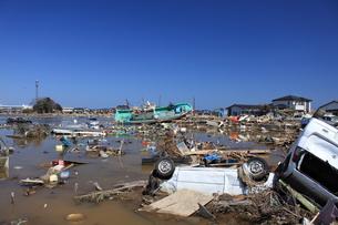 東日本大震災と津波の写真素材 [FYI00457676]