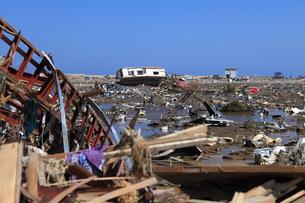 東日本大震災と津波の写真素材 [FYI00457677]