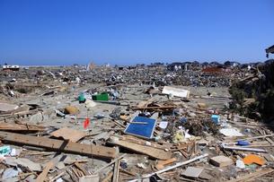 東日本大震災と津波の写真素材 [FYI00457678]