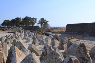東日本大震災と津波の写真素材 [FYI00457680]