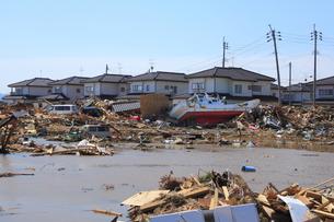 東日本大震災と津波の写真素材 [FYI00457681]