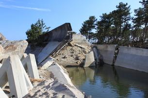 東日本大震災と津波の写真素材 [FYI00457682]