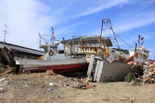 東日本大震災と津波の写真素材 [FYI00457686]