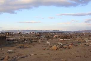 東日本大震災と津波の写真素材 [FYI00457691]