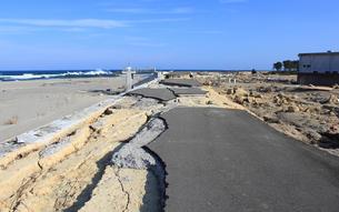 東日本大震災と津波の写真素材 [FYI00457694]