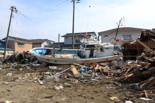 東日本大震災と津波の写真素材 [FYI00457695]