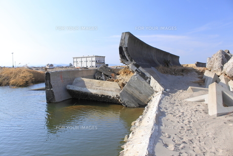 東日本大震災と津波の写真素材 [FYI00457696]