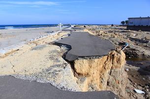 東日本大震災と津波の写真素材 [FYI00457698]