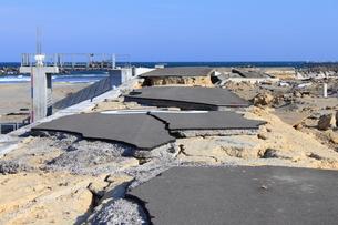 東日本大震災と津波の写真素材 [FYI00457703]